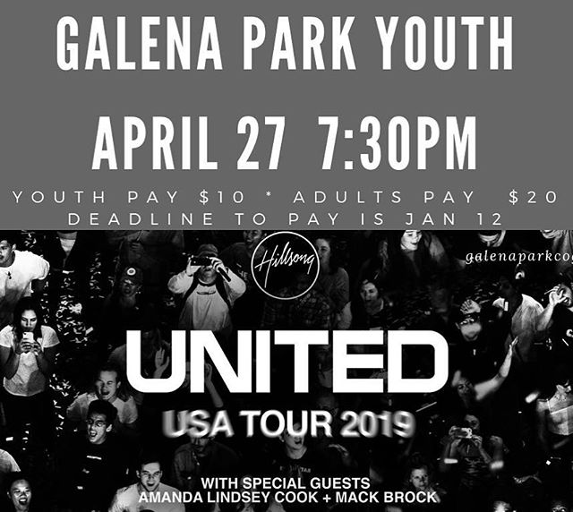 Sign up and pay by Saturday if you want to go to this concert.