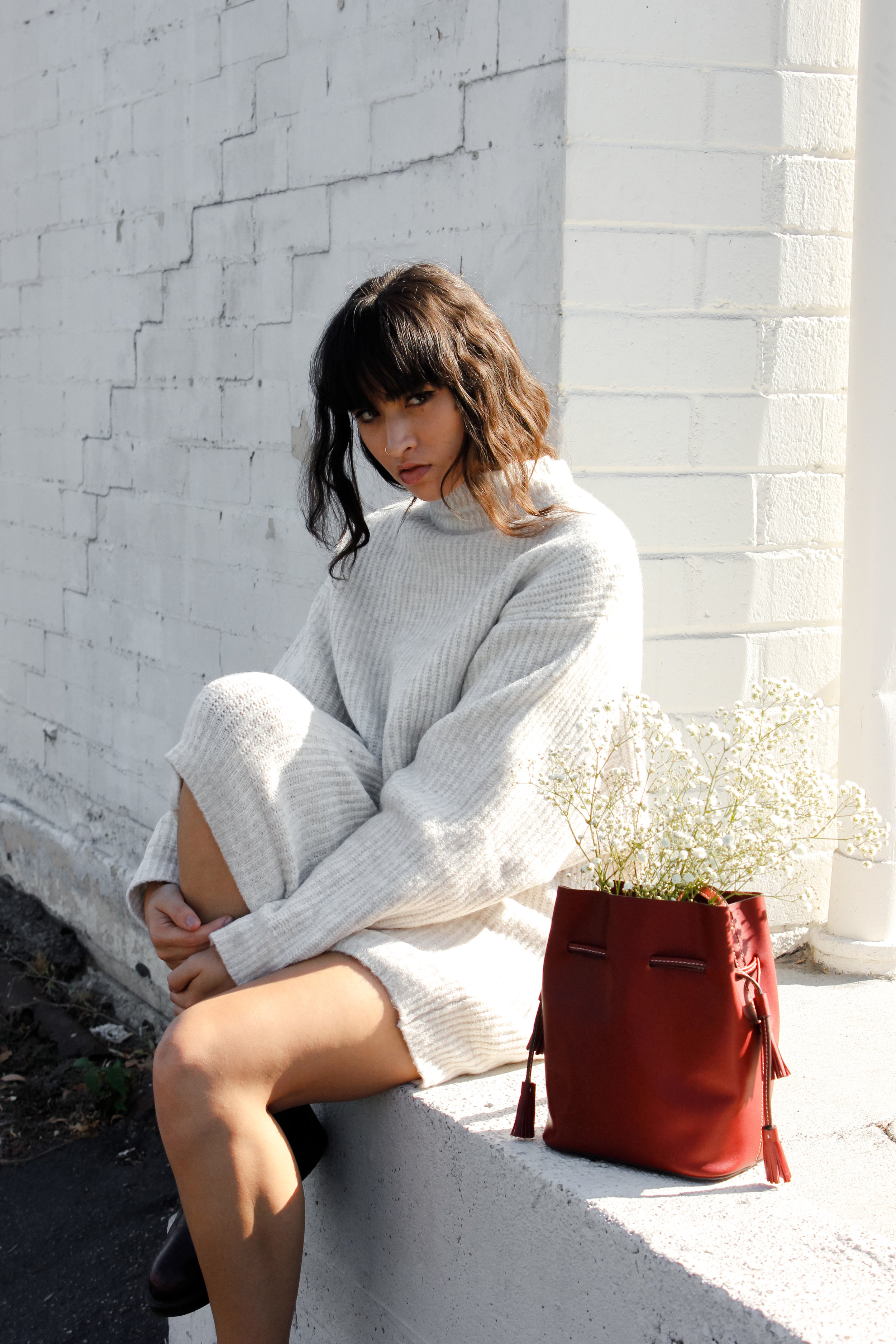 caitlin_miyako_taylor_zara_sweater_dress_and_hi_eleven_bag