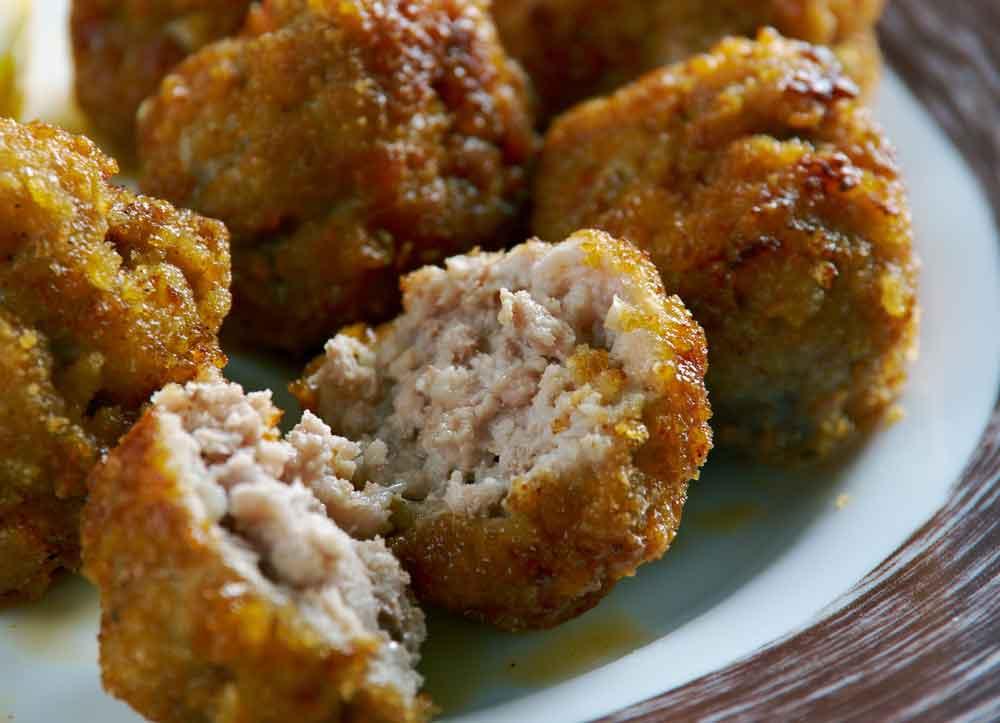 Keftedes  traditional Greek meatballs