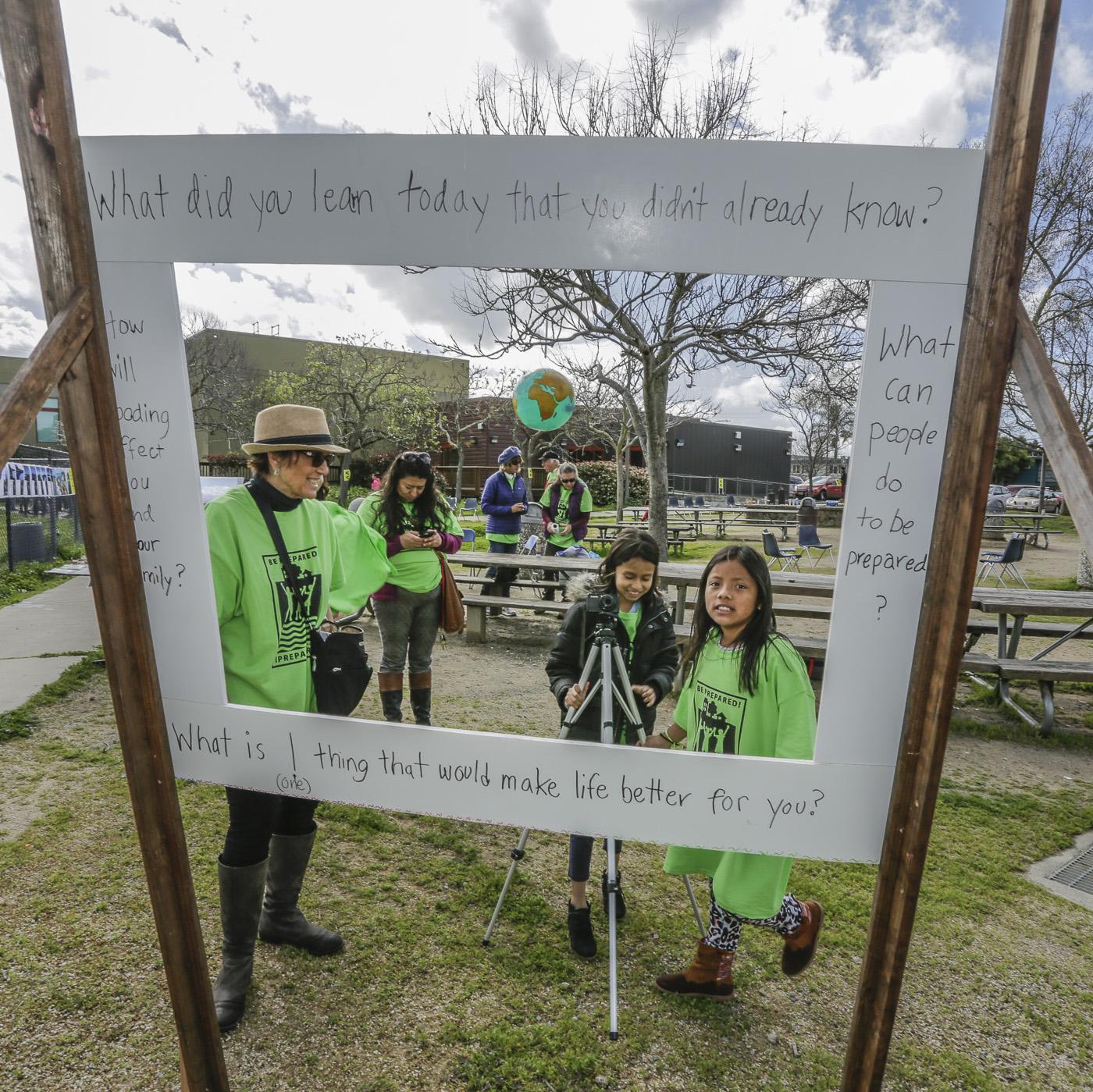 Interviews by Y-PLAN San Rafael Students at Flood Fair - April 4, 2018