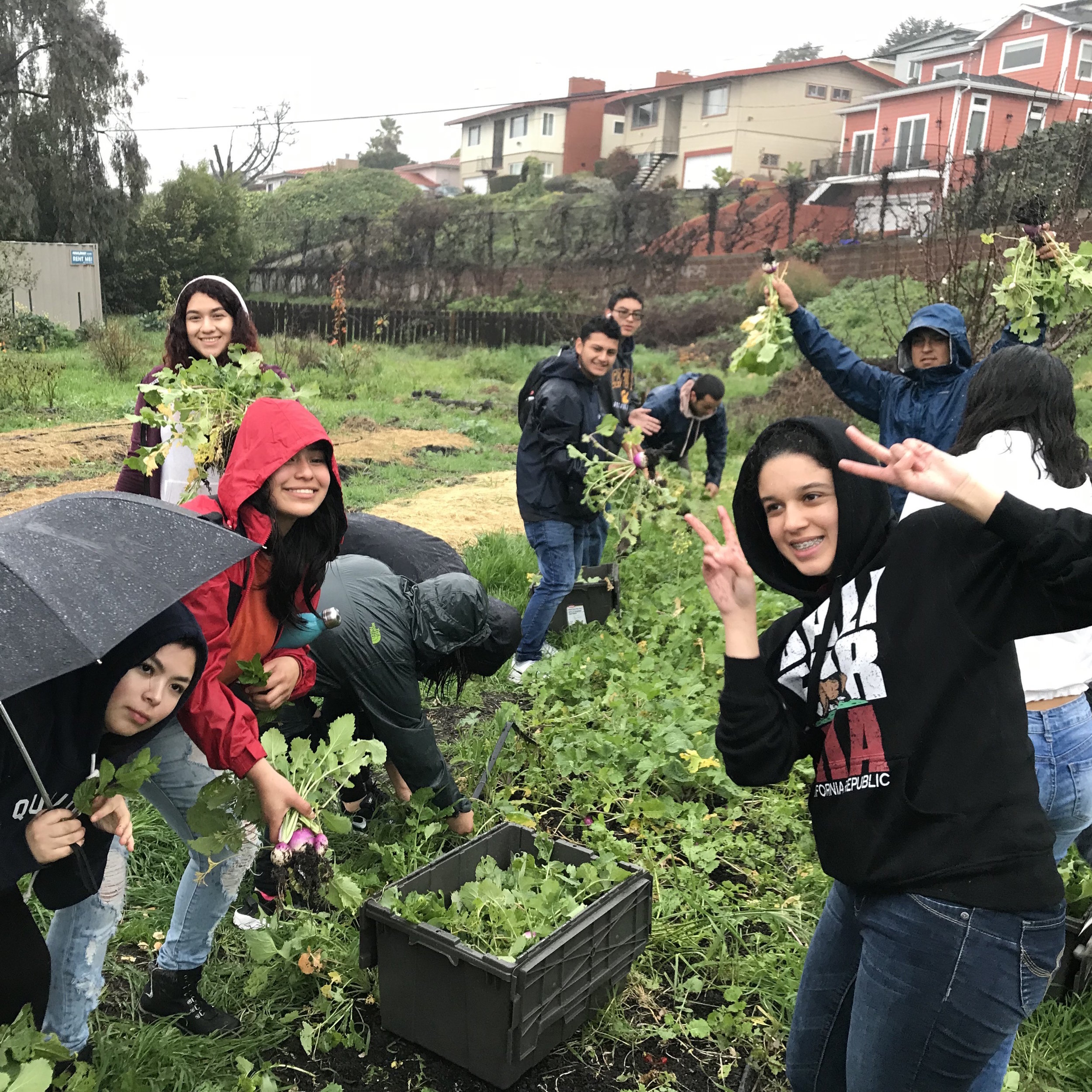 Food Resiliency Tour with Richmond High - April 6, 2018