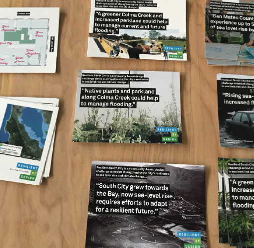 HASSELL+, South San Francisco San Mateo County    Postcards were distributed at their shopfront.