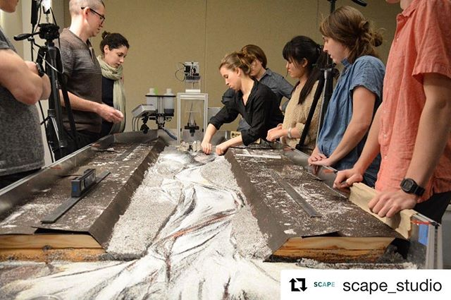 Congrats to Public Sediment! #Repost @scape_studio with @get_repost ・・・ SCAPE's Public Sediment team has been awarded an @archpaper 2018 Best of Design Award for Analog Representation, for their Public Sediment for Alameda Creek Stream Table Model. To test the adaptive design and understand the dynamic processes of sediment movement, a physical stream table model was calibrated to represent the leveed channel condition of the creek and facilitated experimentation with planted creek structures and flow patterns. Then, the team used photogrammetry software to analyze the model, and incorporated the results into refined, digital 3-D models used for community outreach. Thank you to our collaborators for their work on the model, including Cornell University, @arcadisglobal, The Dredge Research Collaborative, TS Studio, UC Davis Department of Human Ecology and Design, Cy Keener, and @architecturalecologieslab