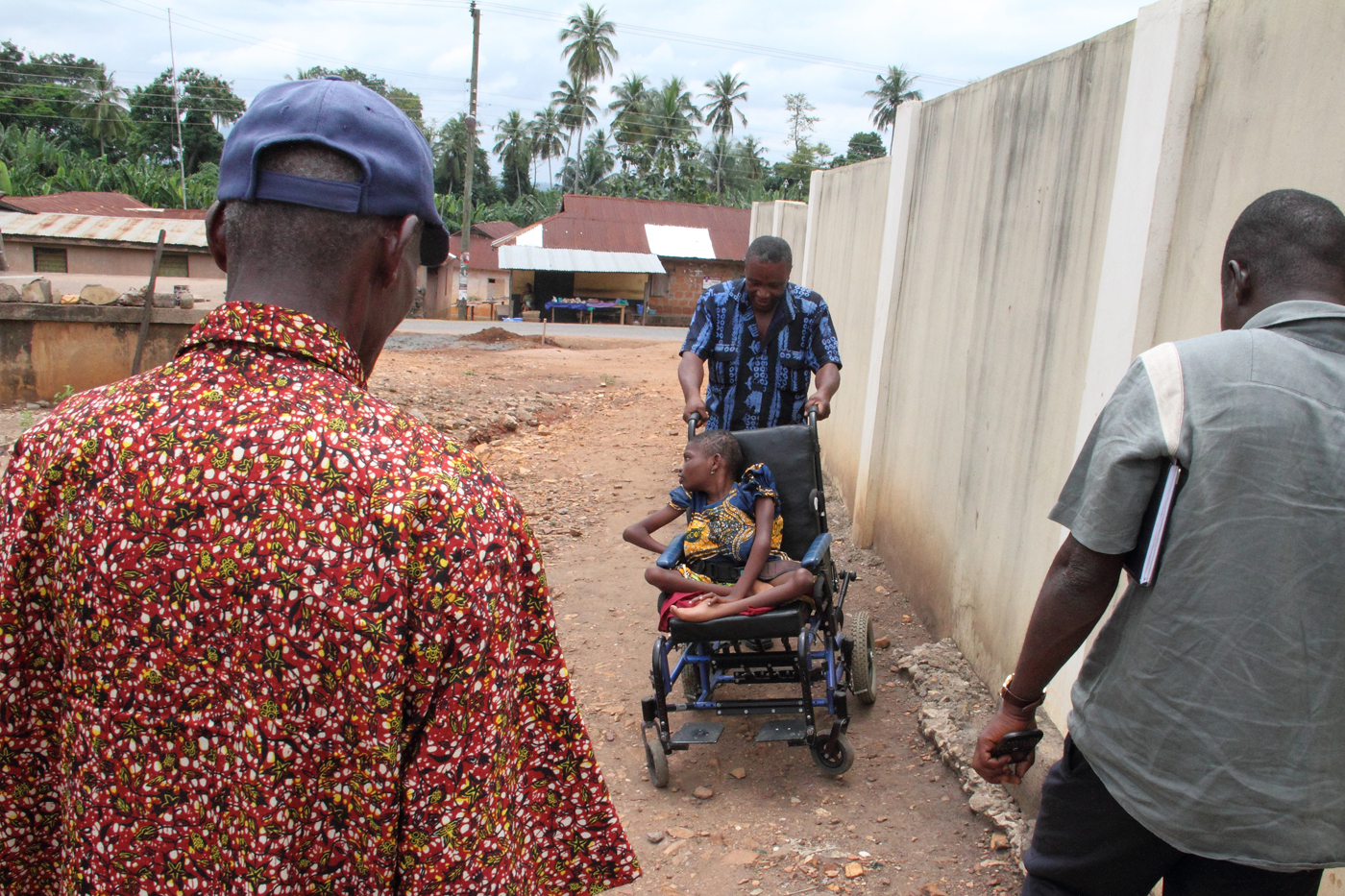 Mawunyo, Ford and Elvis on a better part of the road.