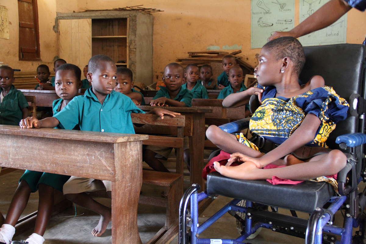 Class begins and Mawunyo was very interested. We left Mawunyo in class at this point to let the teacher work with the students. As we waited outside, we could hear Mawunyo talking, asking questions, and telling her classmates to KEEP QUIET!
