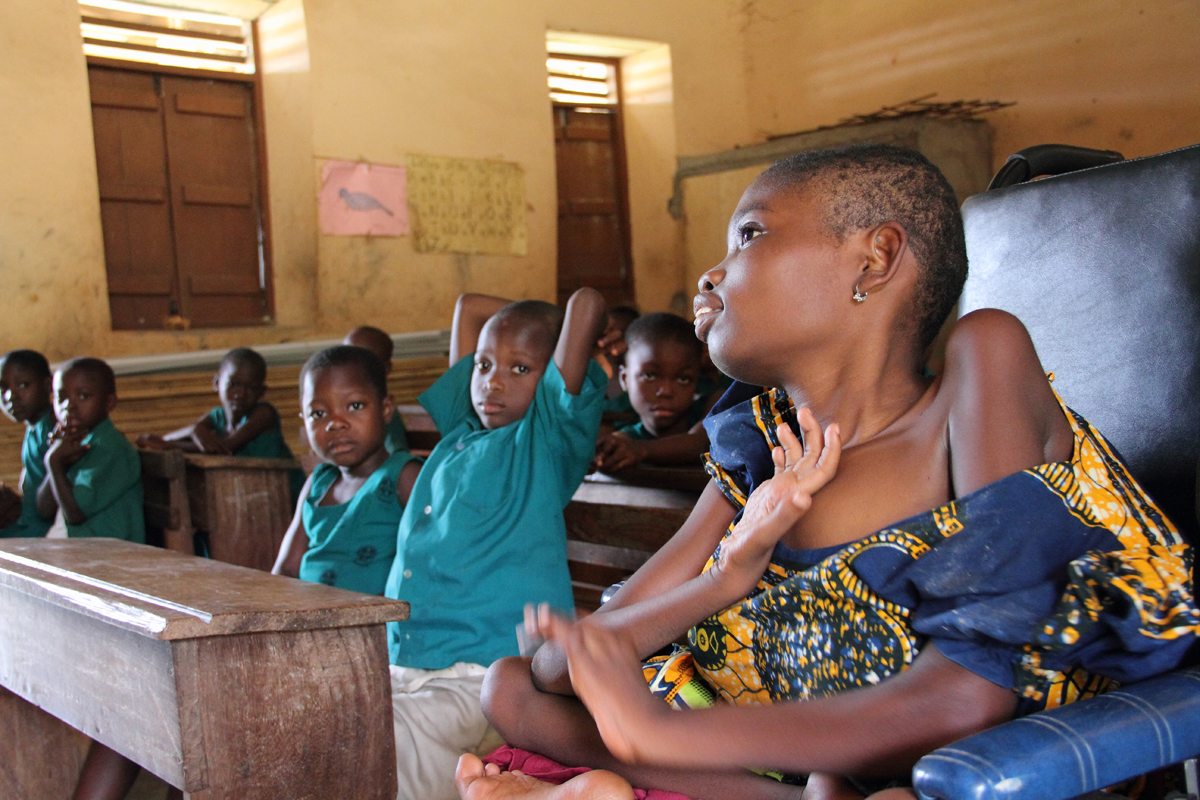 When they went on break we learned that the teacher made Mawunyo the class prefect. Mawunyo was also asked to introduce herself and she told the class that her name is Jennifer. Her family never gave her a Christian name, so we are not sure where this name came from, but now her classmates call her Jennifer.