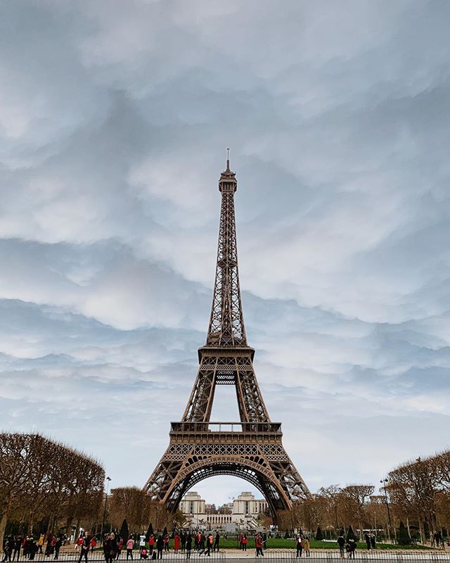 Chaos throughout France, but this beauty still stands magnificently through the storm.
