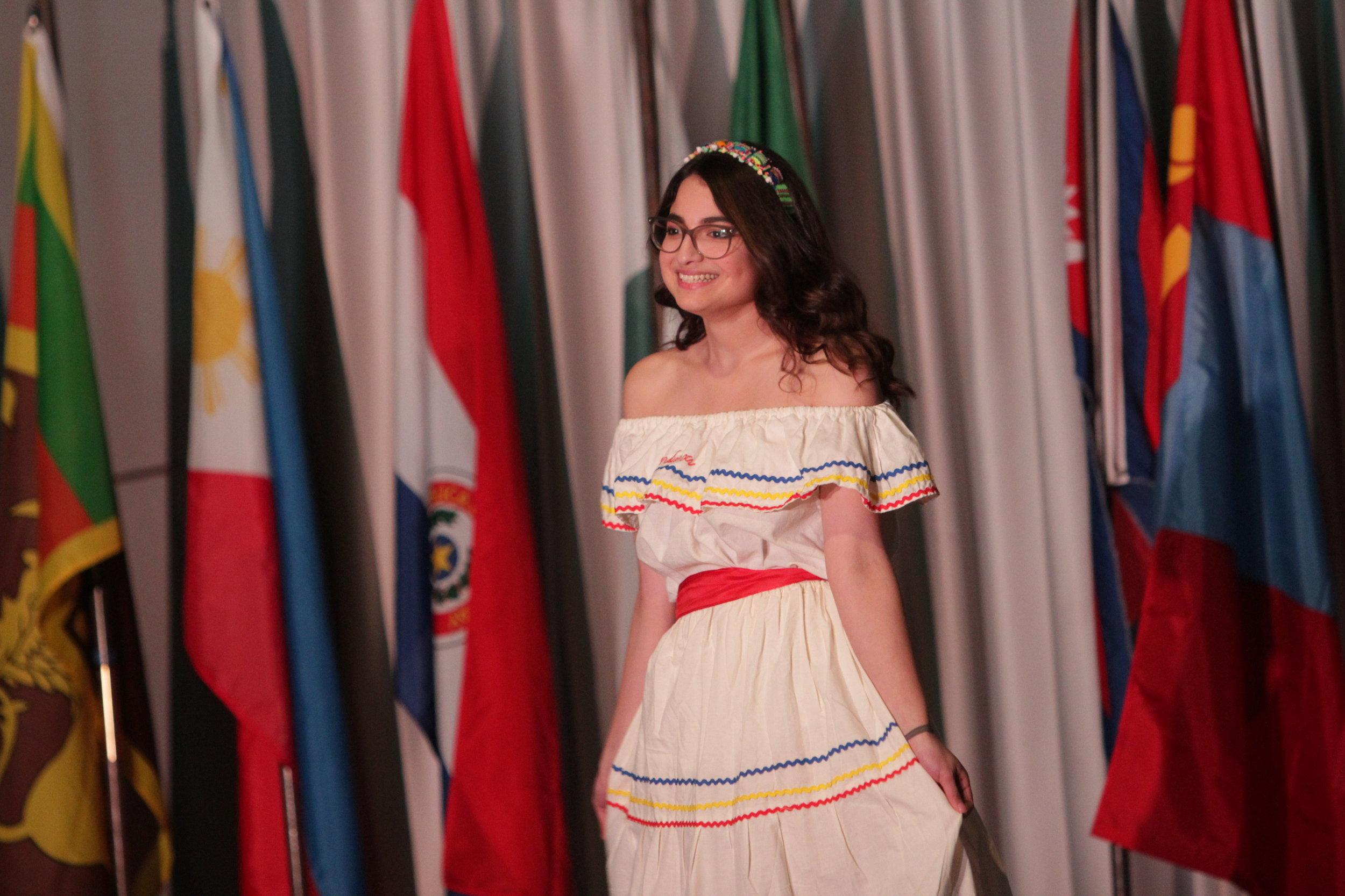 Junior Melissa Osorio representing Honduras