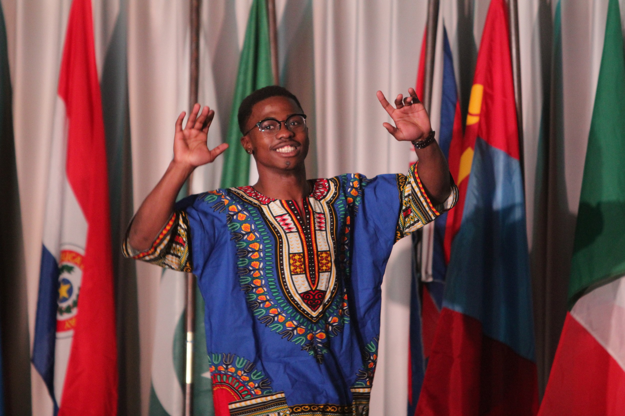 Freshman Sibuso Hadebe representing South Africa