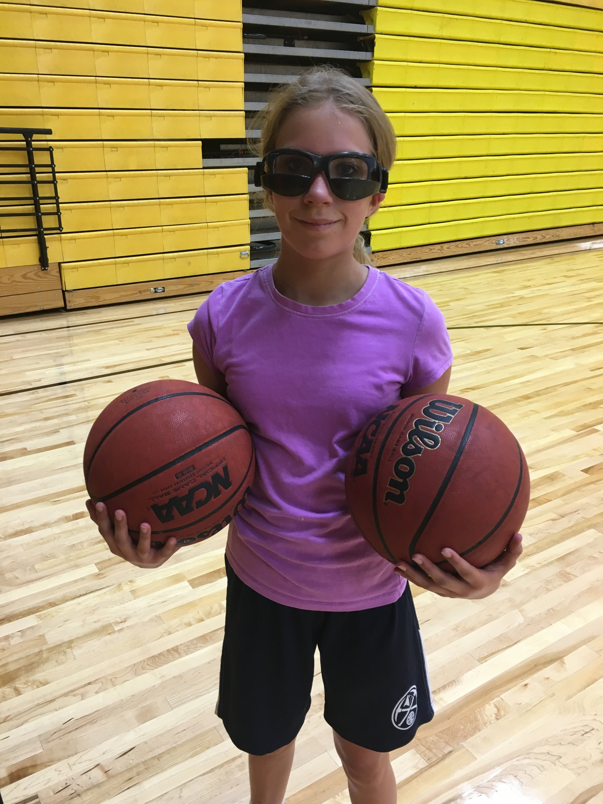My girl Lily in her ball handling goggles!!!