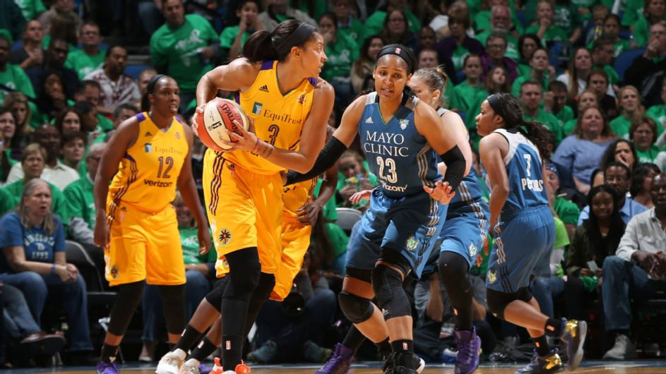 Candace Parker in Game 5 of the WNBA Finals
