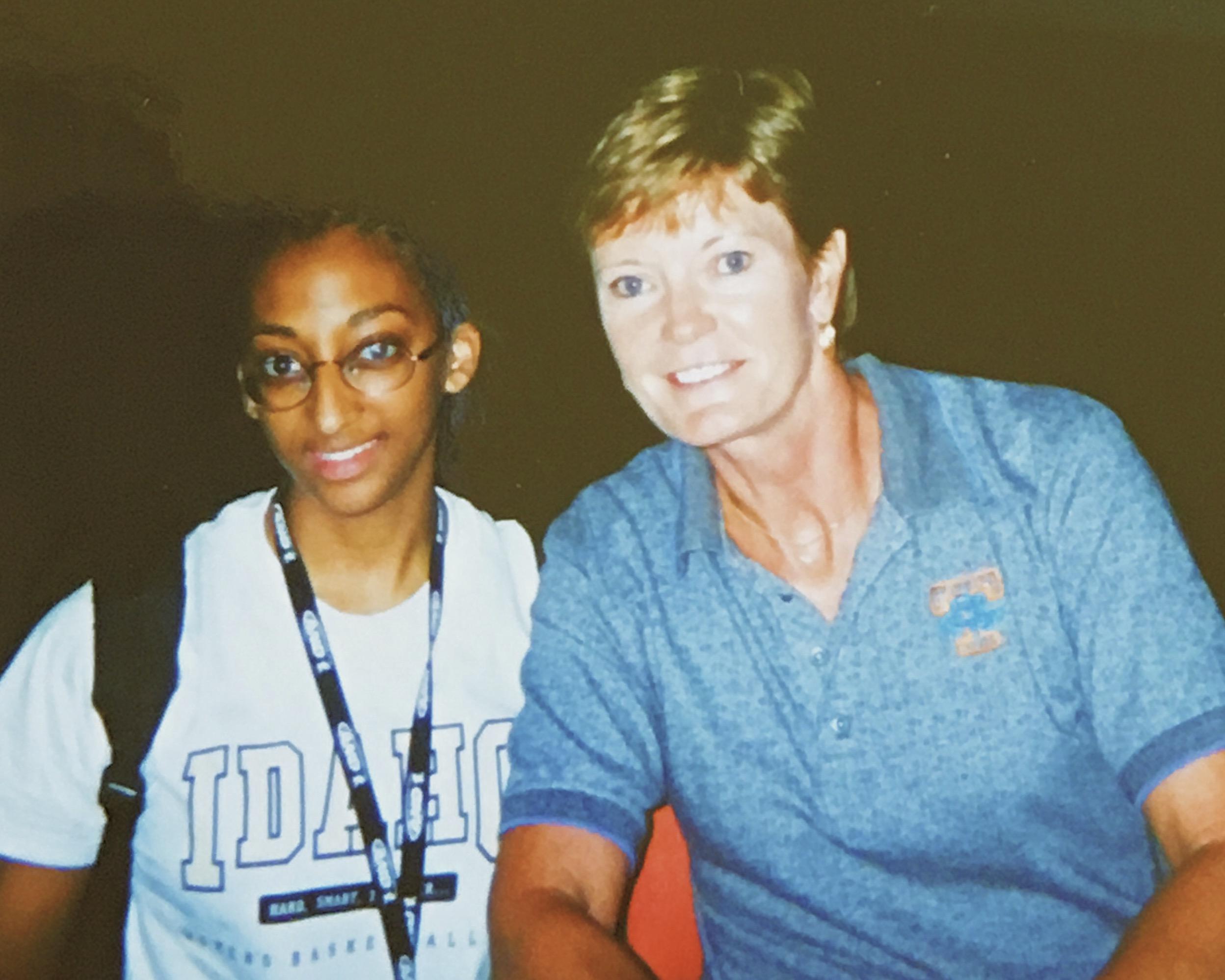 8th grade summer meeting the GOAT, Coach Pat Summitt