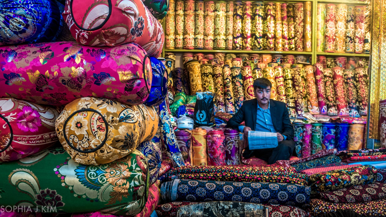 Pillow Shop Owner, Kashgar, China