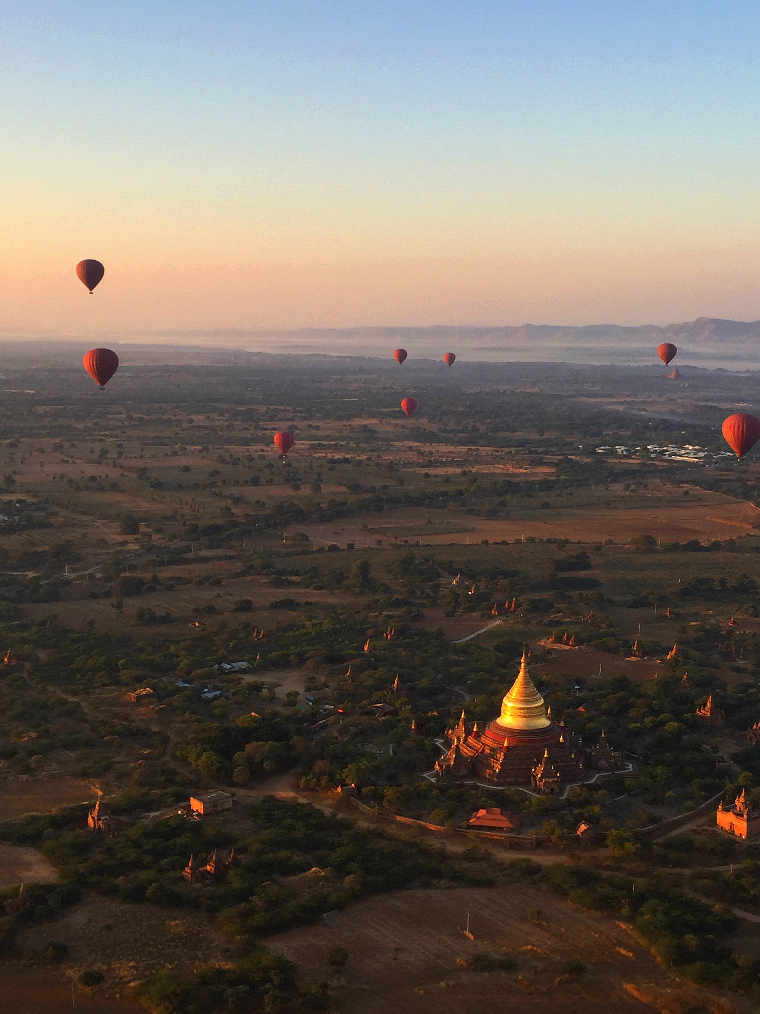 Floating Above Temples, Bagan, Myanmar