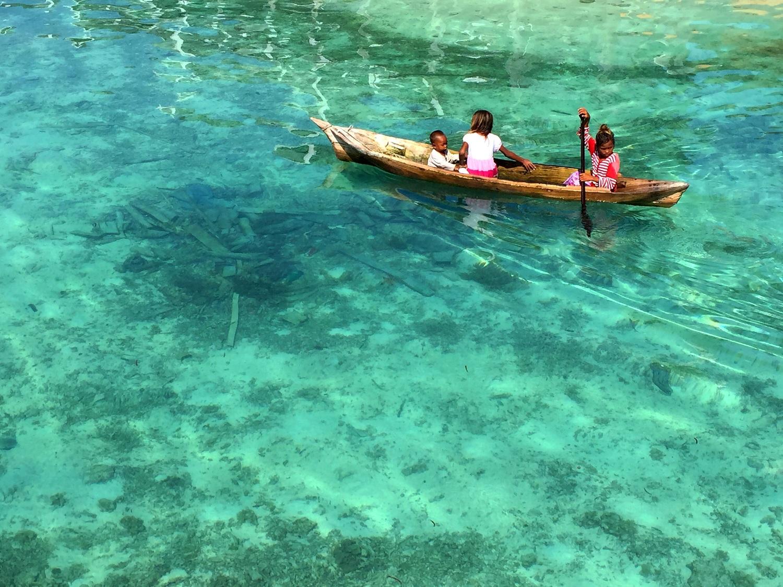 Sipadan Water Village Kids, Malaysia