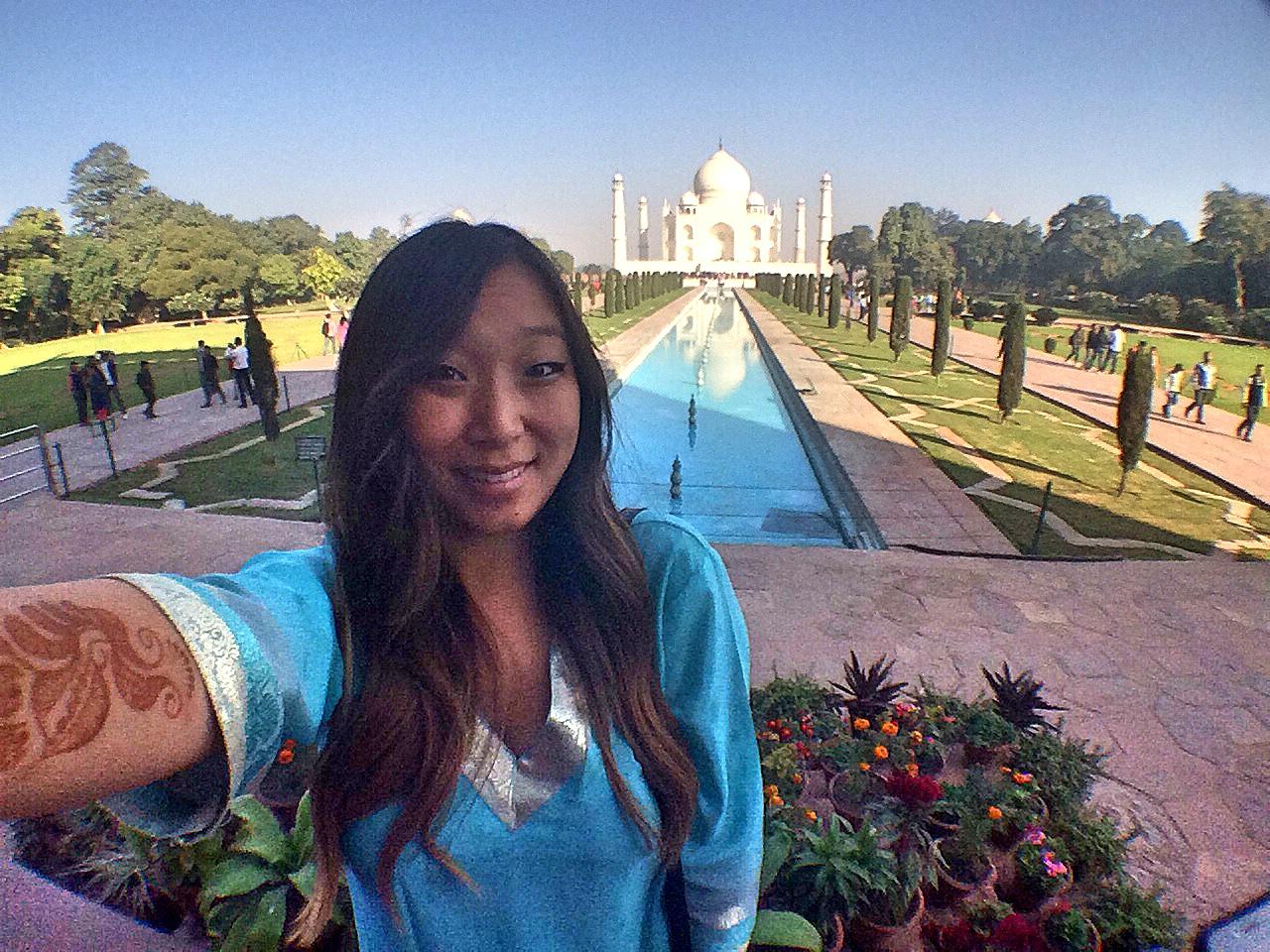 Taj Mahal Selfie, India