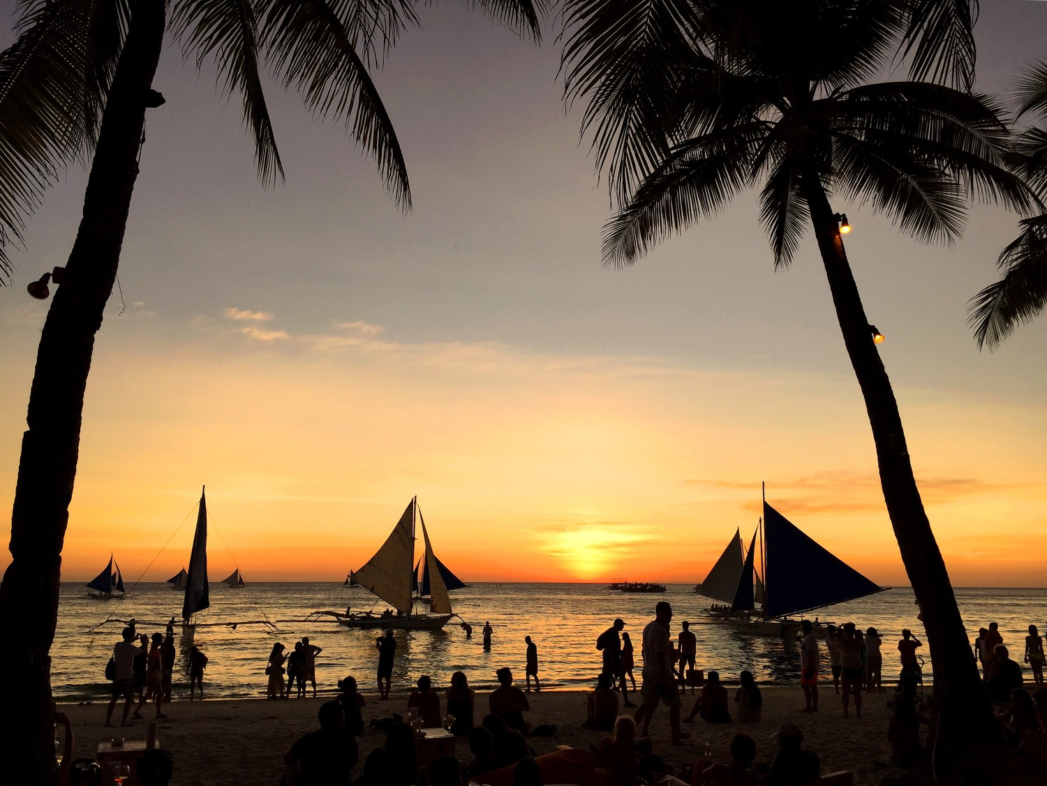 Sunsets in Boracay, Philippines