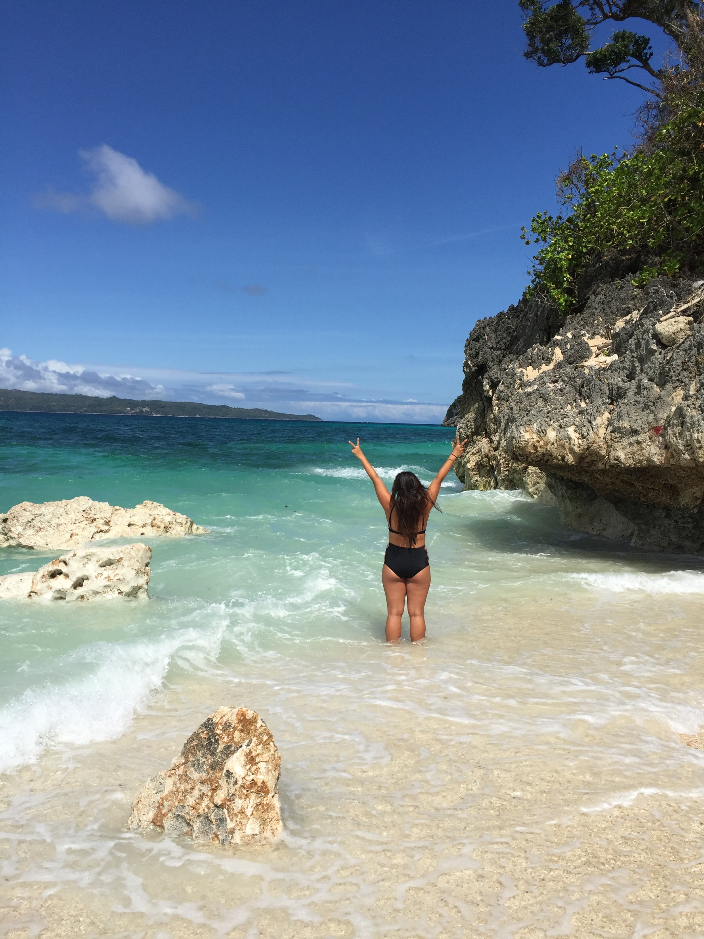 Peace Out from Puka Beach, Boracay, Philippines