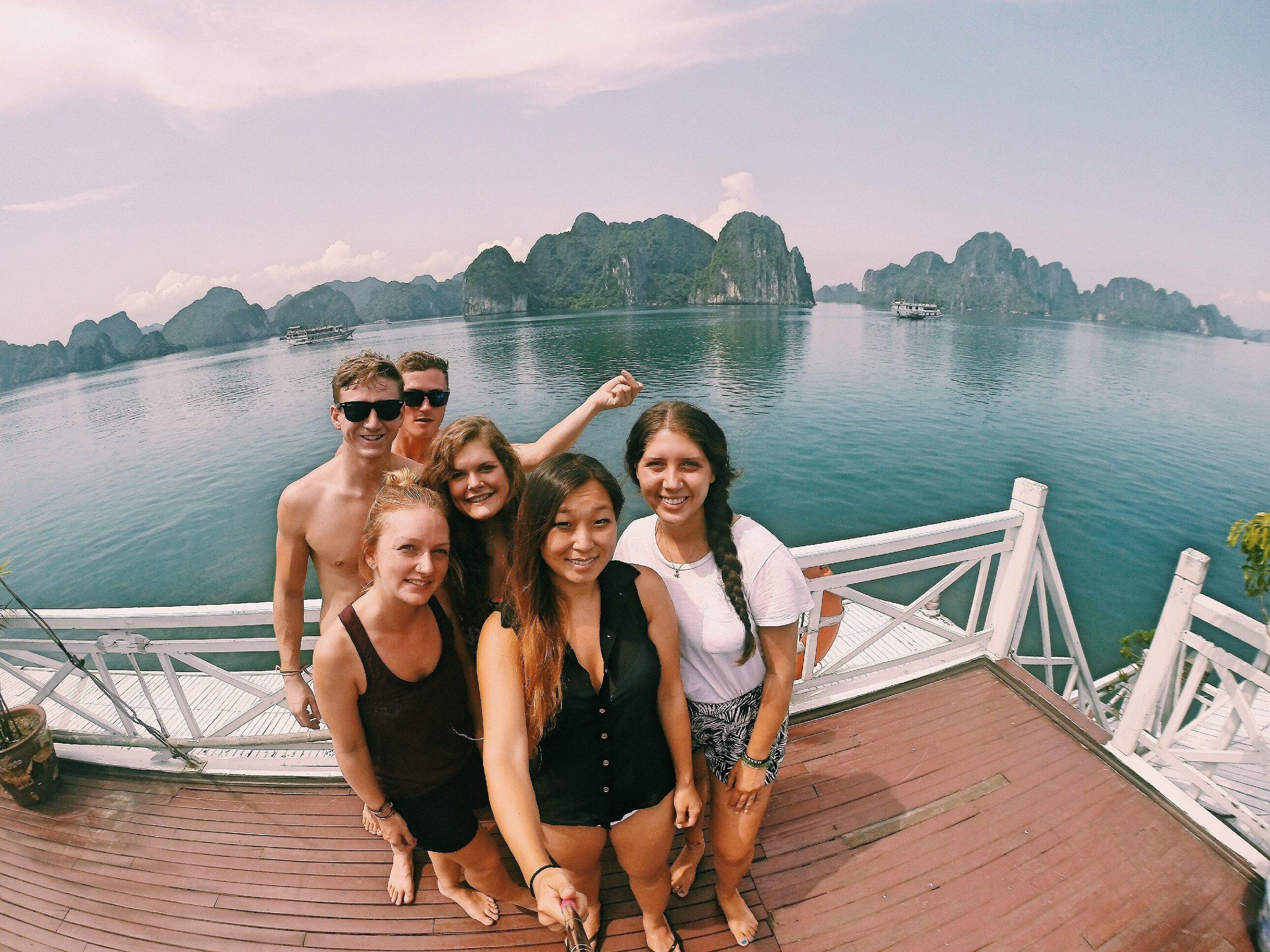 New Friends through Ha Long Bay, Vietnam