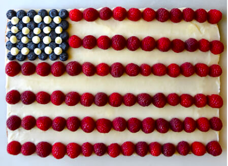 American Flag Cookie cake Just a Taste