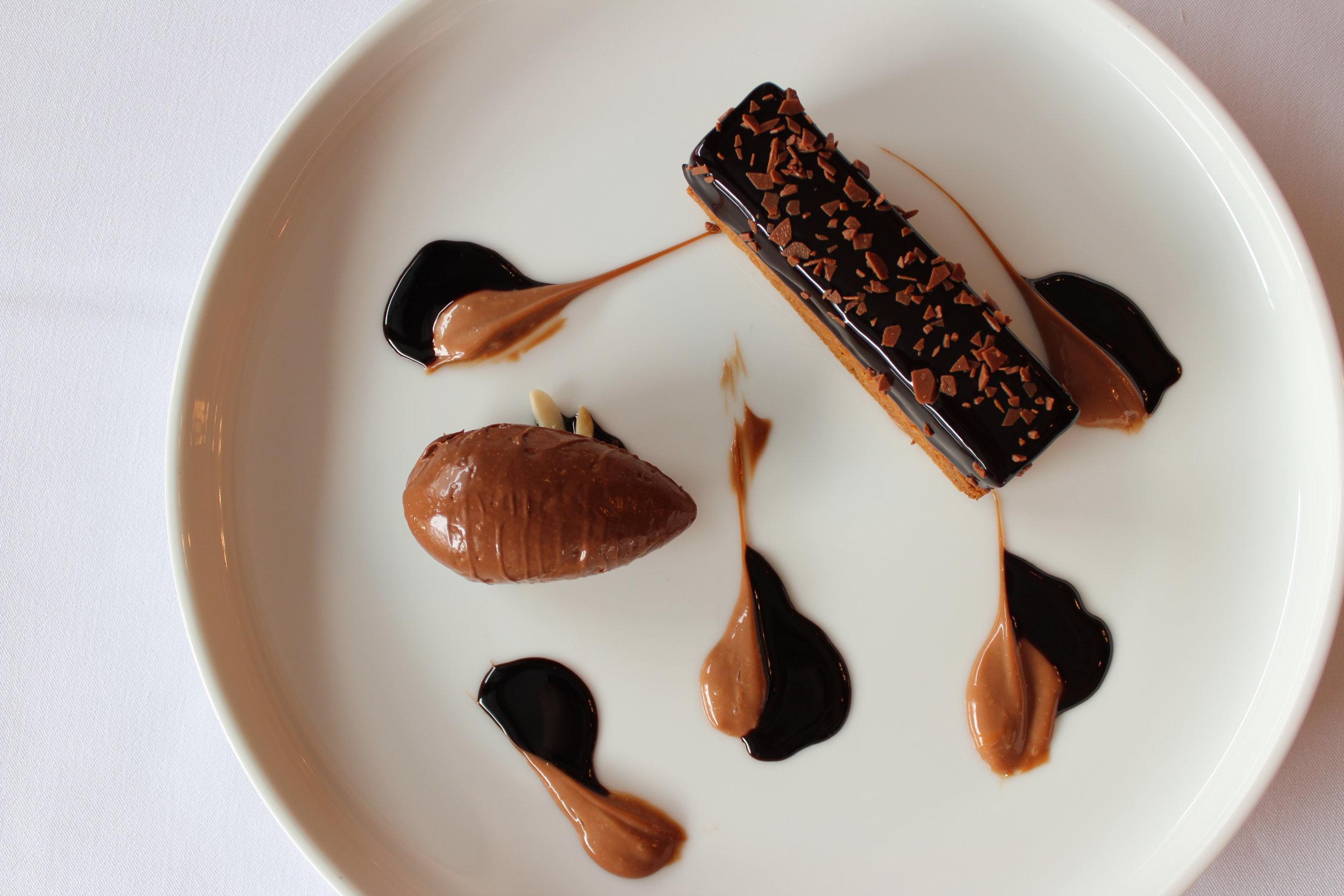 Dark & Milk Chocolate Dessert bar from Bagatelle New York City