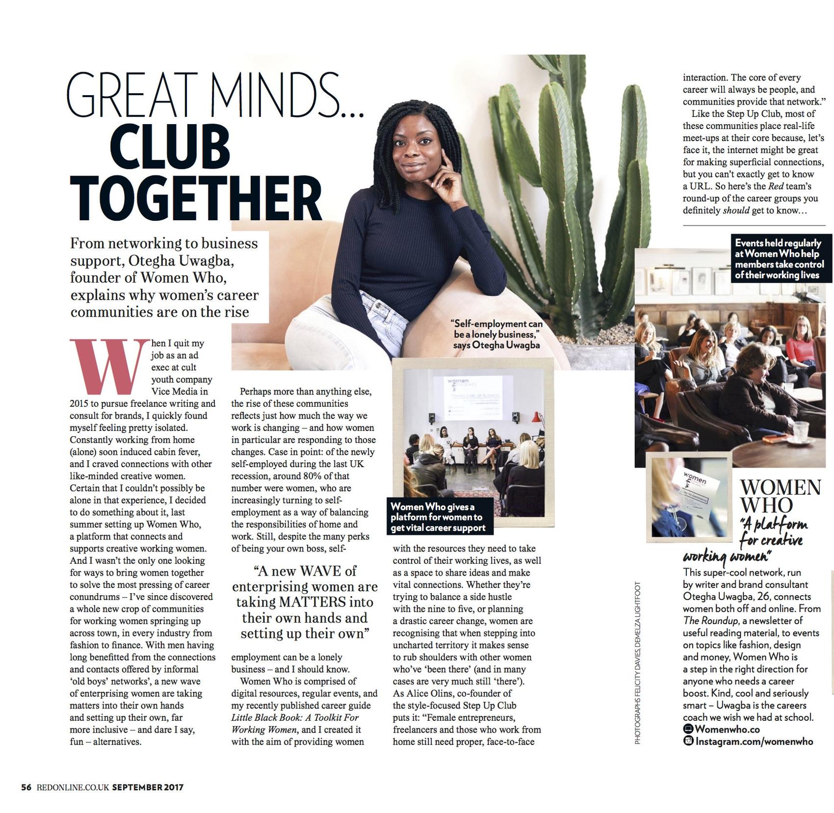 Otegha Uwagba Red Magazine Women's Communities