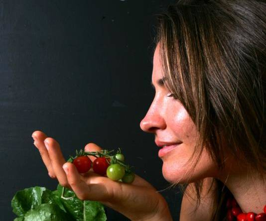 Good food: Bec Bowie, in a 2009 photo shoot about Estabar's commitment to good local produce. Picture: Kitty Hill