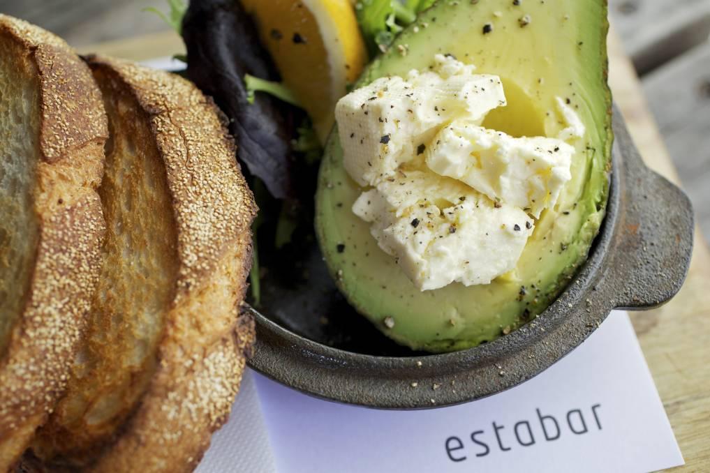 As you like it: Sourdough, avocado and feta - all local - at Estabar.