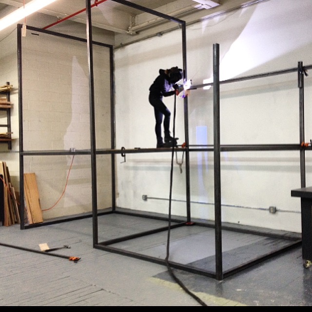 welding up high at a friend's studio