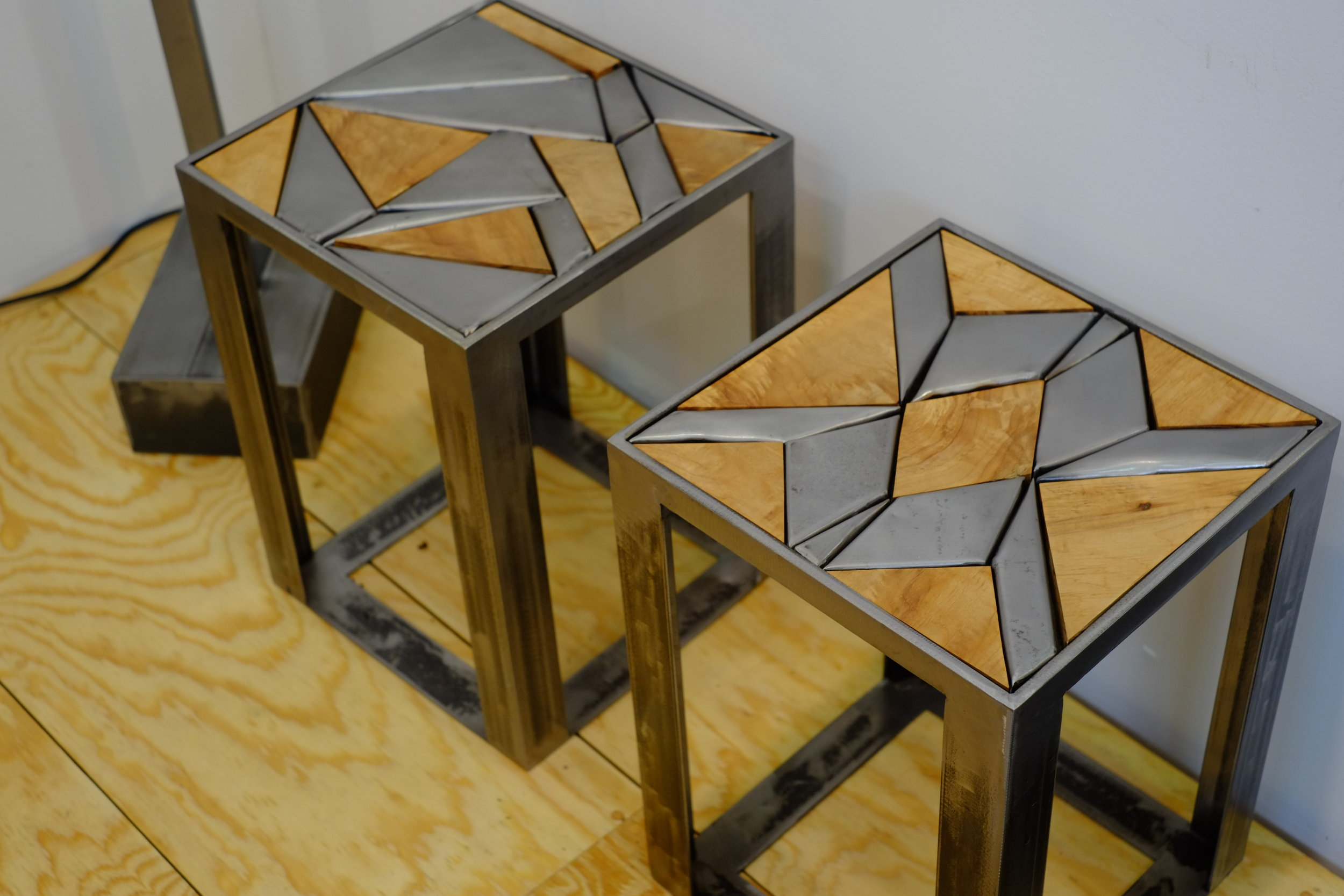 FINISHED QUILT STOOLS