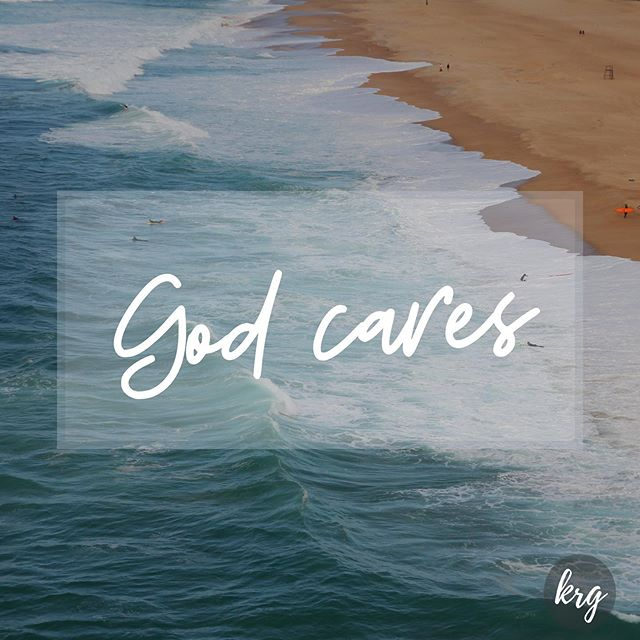 """Good morning! Whether you enjoying good times, or facing something difficult, God cares! _ """"Casting the whole of your care [all your anxieties, all your worries, all your concerns, once and for all] on Him, for He cares for you affectionately and cares about you watchfully."""" 1 Peter 5:7 AMPC"""