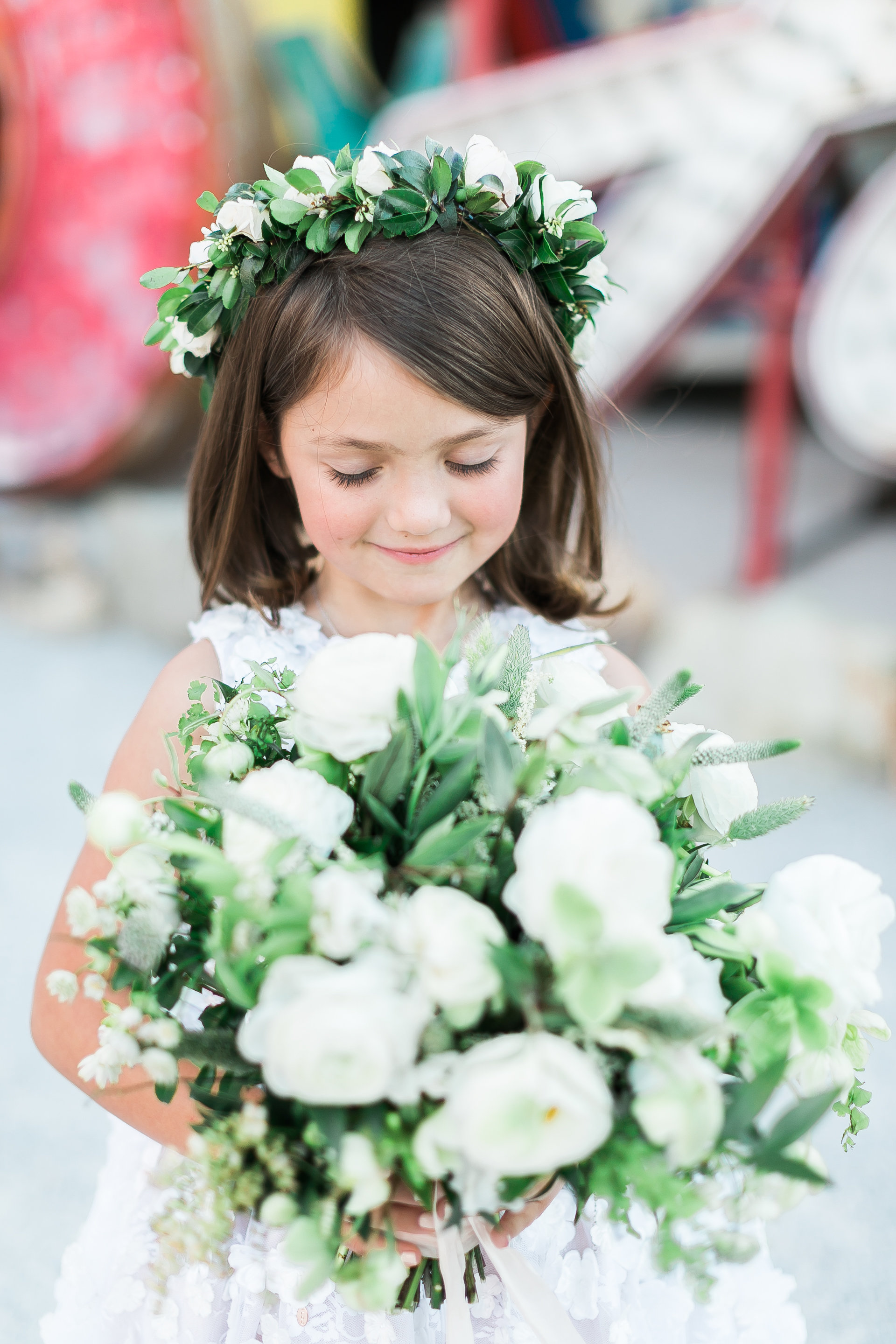 Flower girl halo by Layers of Lovely