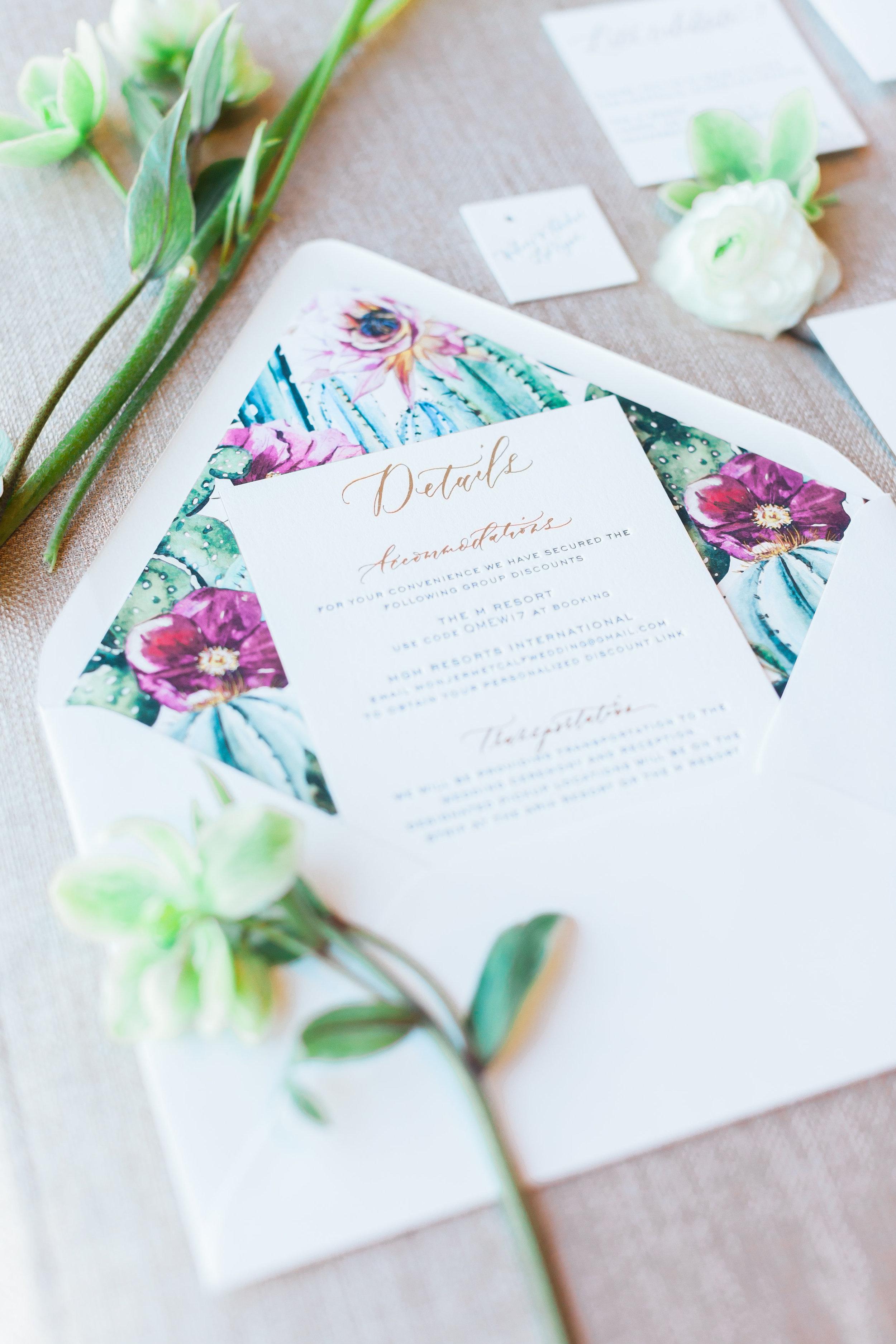 Beautiful invitation details