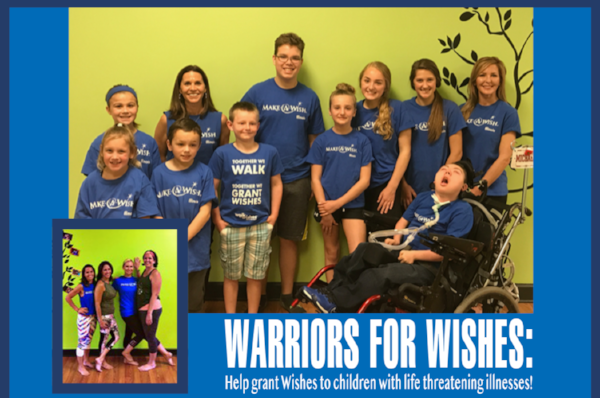 KIds from Make-a-Wish Illinois with Wish Granter and Twist teacher, Kim Grispo.