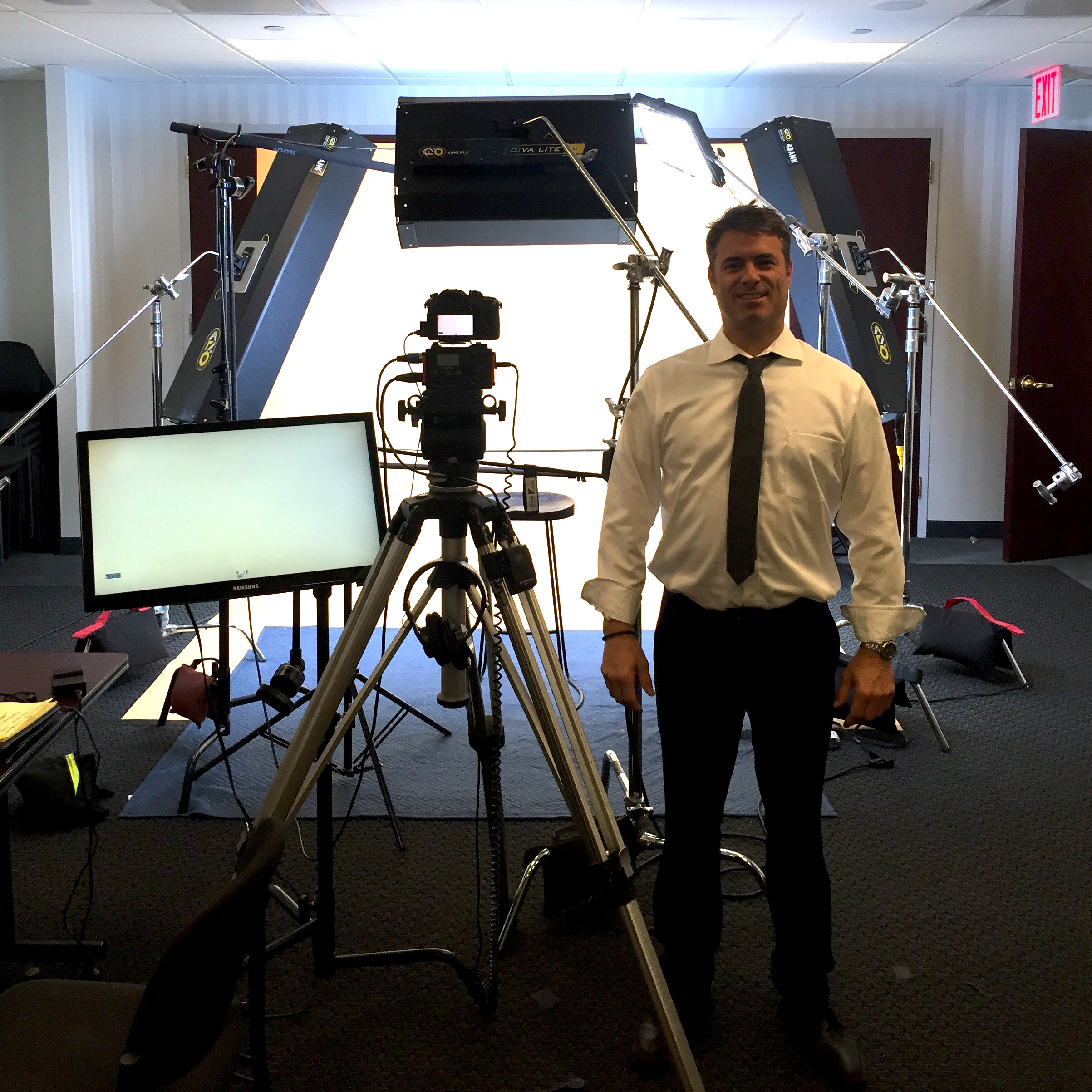 Directing web commercials for New York Life agents. Manhattan in fall 2015.