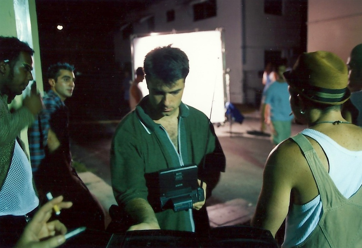 "Shooting a flashback from ""Elevator Music"" in an alley on South Beach. Summer 1999."