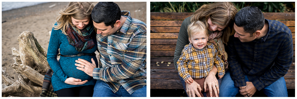 Maternity session at Portland's Cathedral Park on the left and Emmett today on the right!