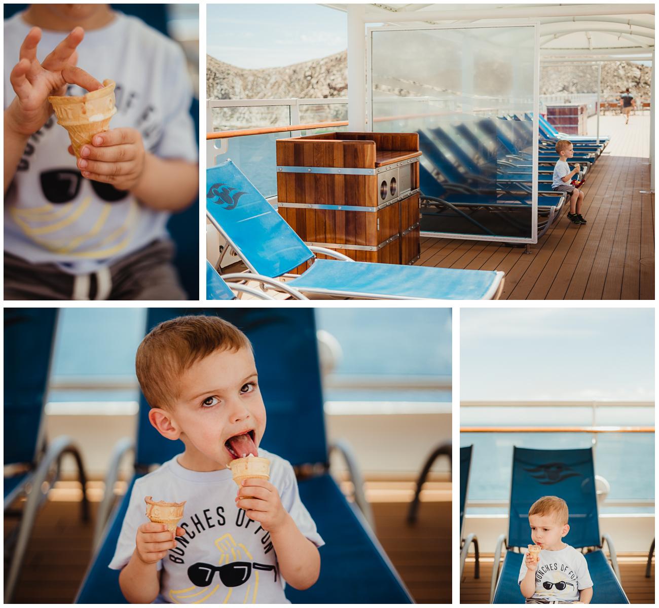 Disney Cruise photographer ice cream
