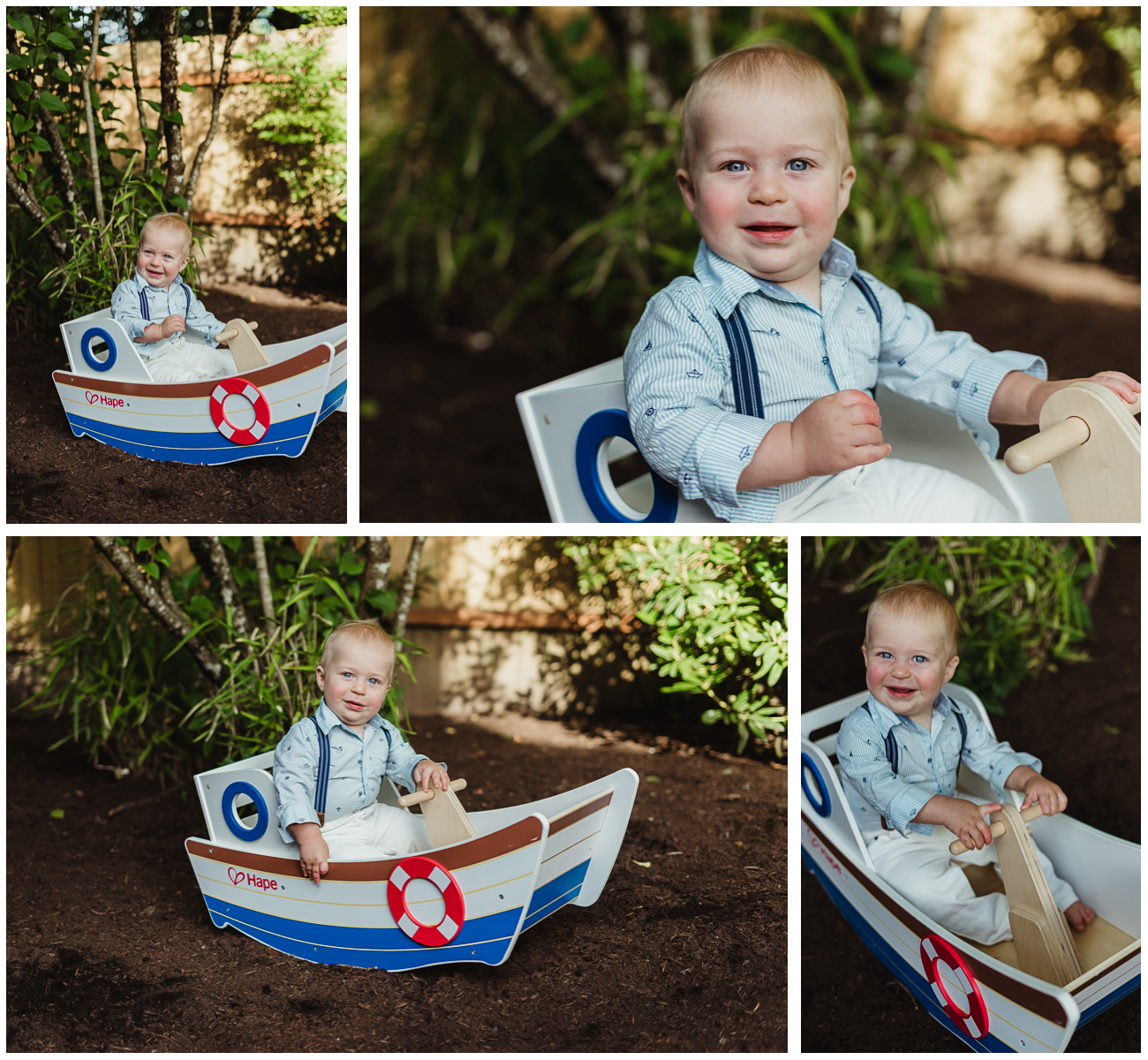 Nautical Boy First Birthday Photo Shoot