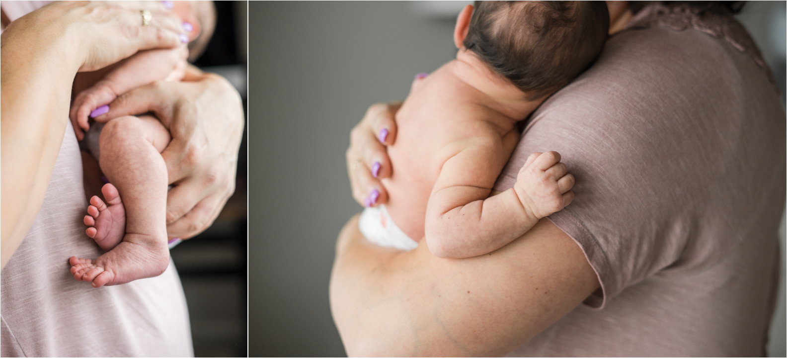 Those feet and hands… a necessary shot when photographing a newborn. They grow so quickly, it can be tough to remember what they looked like without photos!