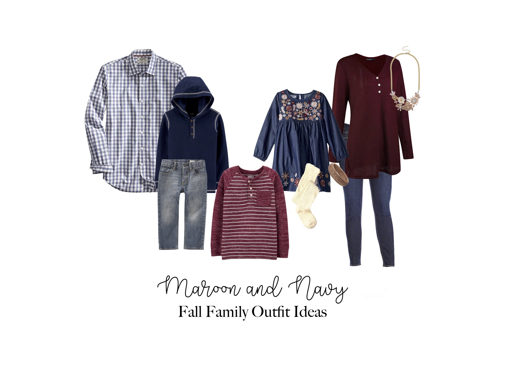 Maroon and Navy Fall Outfit Ideas