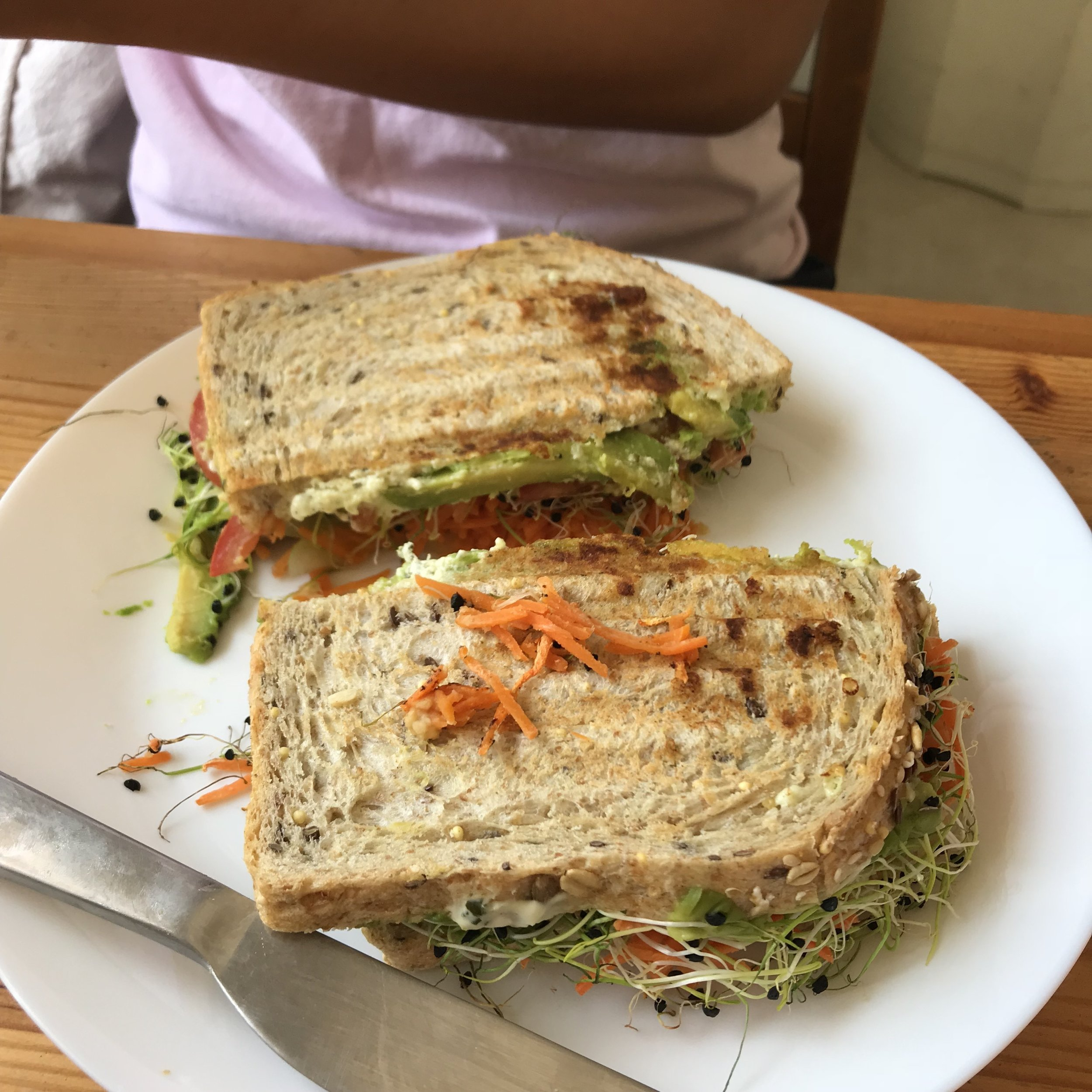 Vegetable sandwich.