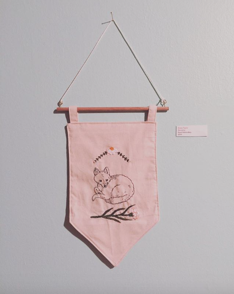 Carnation - Hand embroidered wall hanging