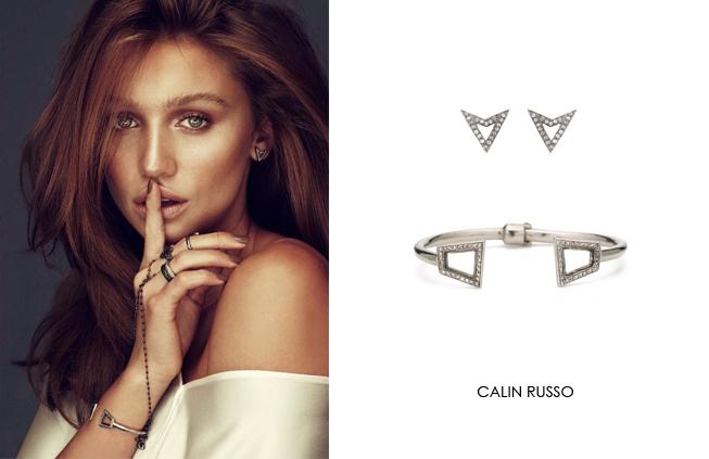 Calin Russo wearing Renee Sheppard jewelry
