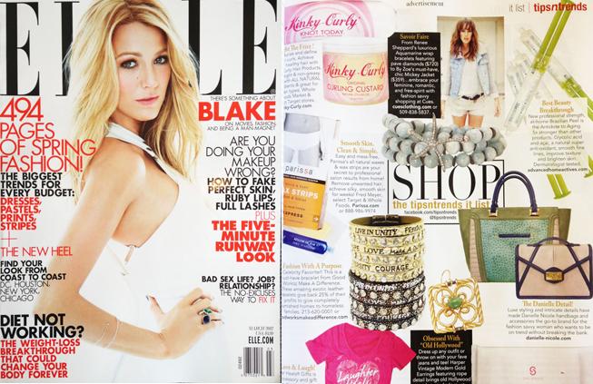 Renee Sheppard Jewelry wrap bracelet featured in Elle magazine