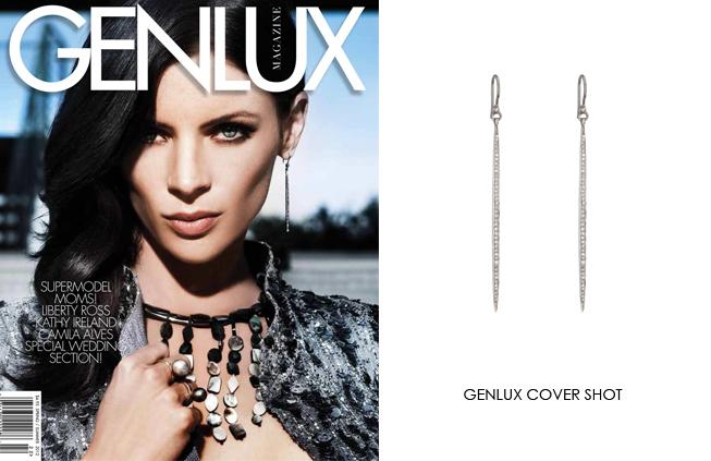 Renee Sheppard Dagger Earring feature on Genlux cover