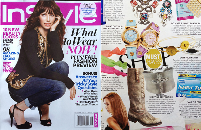 Renee Sheppard Cross Cuff featured in Instyle magazine