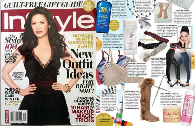 Renee Sheppard Diamond Cross featured in InStyle magazine