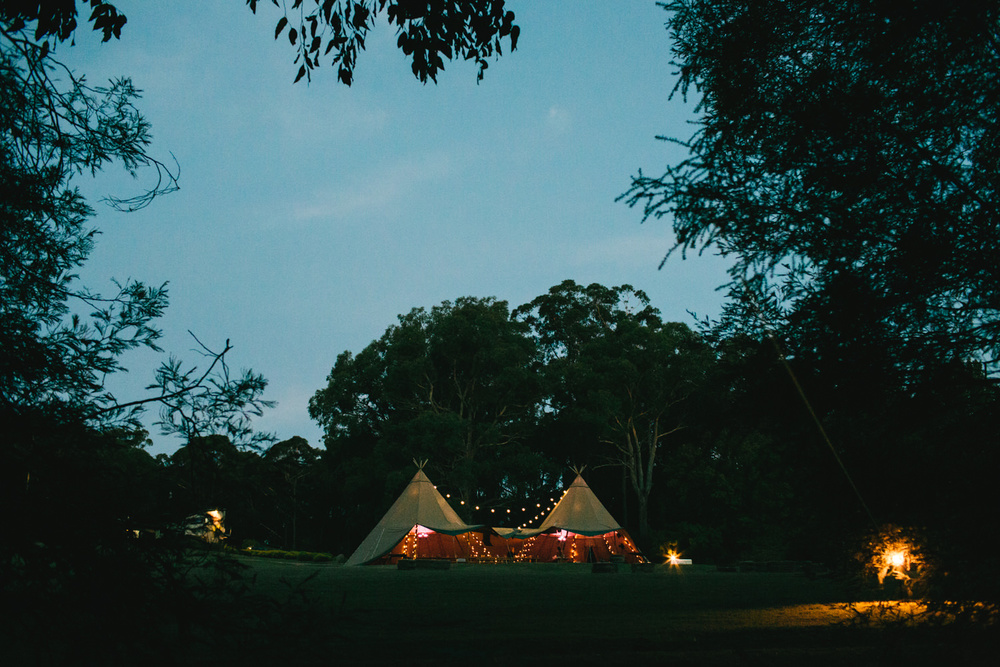 Nothing could have complimented the amazing farm setting of our wedding better than TipiKata's incredible Tipis. Every guest was blown away when they first saw the Tipis and they proved the perfect place for everyone to party the night away. To top it off, all of the staff were friendly and ever accommodating – by far the most responsive and supportive of our suppliers.    Sarah and Michael