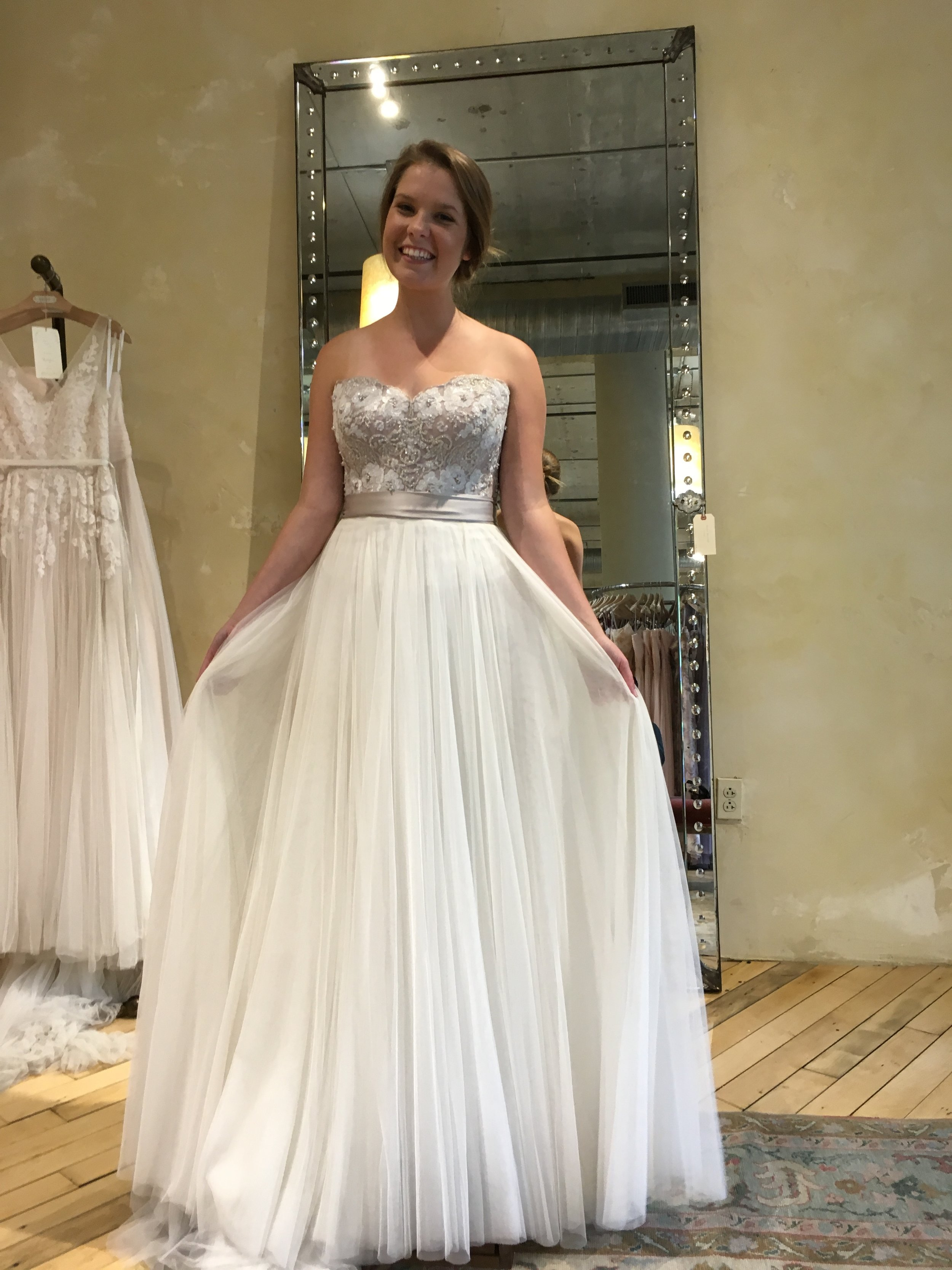 that amazing dress you guys love, well it ALMOST didn't happen, this was the FIRST wedding dress I bought!